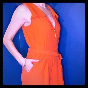 Banana Republic. Orange full length jumpsuit